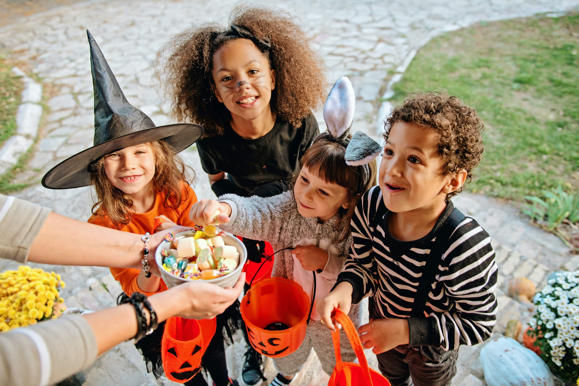 Halloween candy. Dental tips